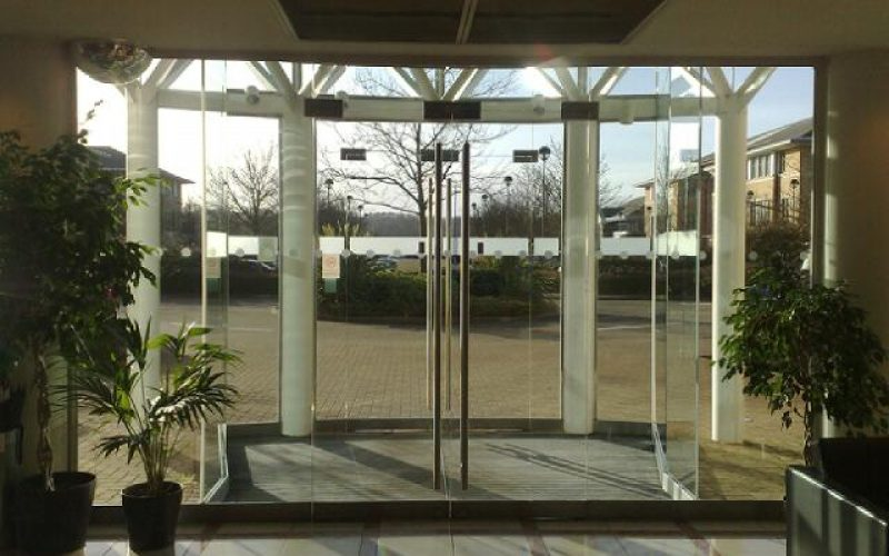 High grade glass entrance doors