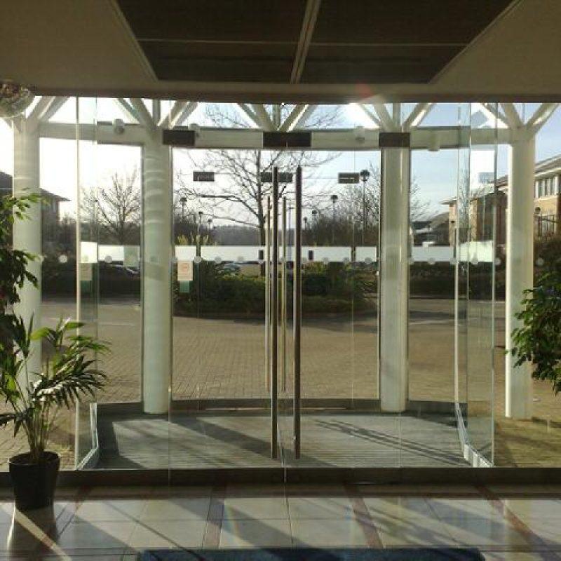 High grade glass entrance doors