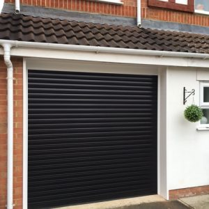 black-garage-door