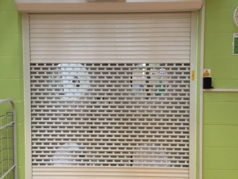 Shutter with Grille Section