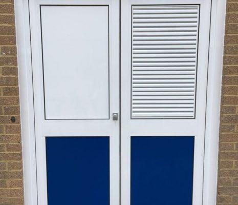 Boiler room louvre doors