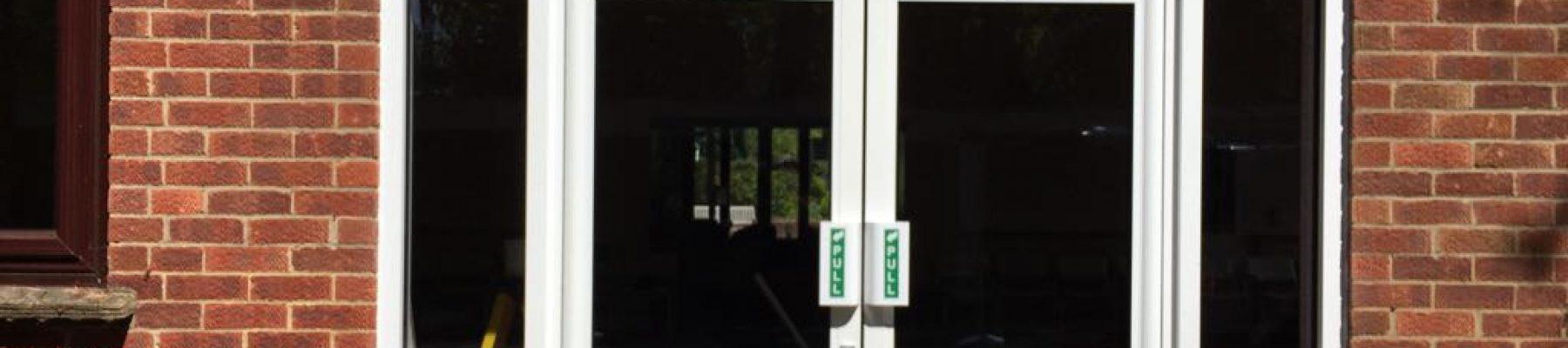 High usage pedestrian aluminium doors