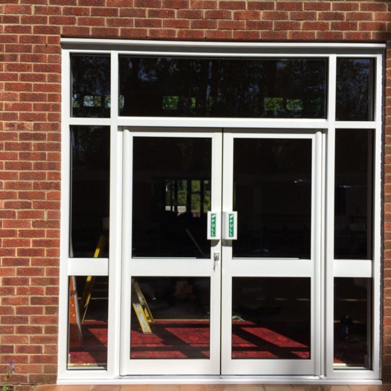 Commercially rated pedestrian doors for high usage