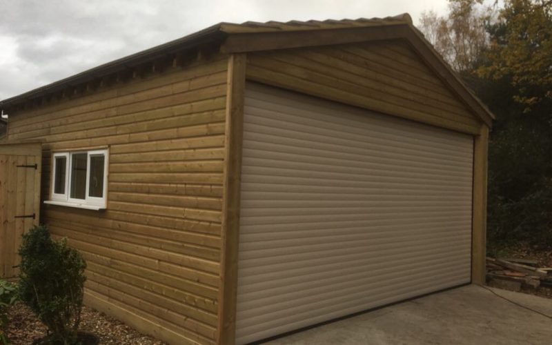 Secure converted barn roller shutter