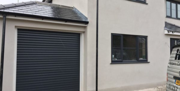 Insulated garage doors in various colours