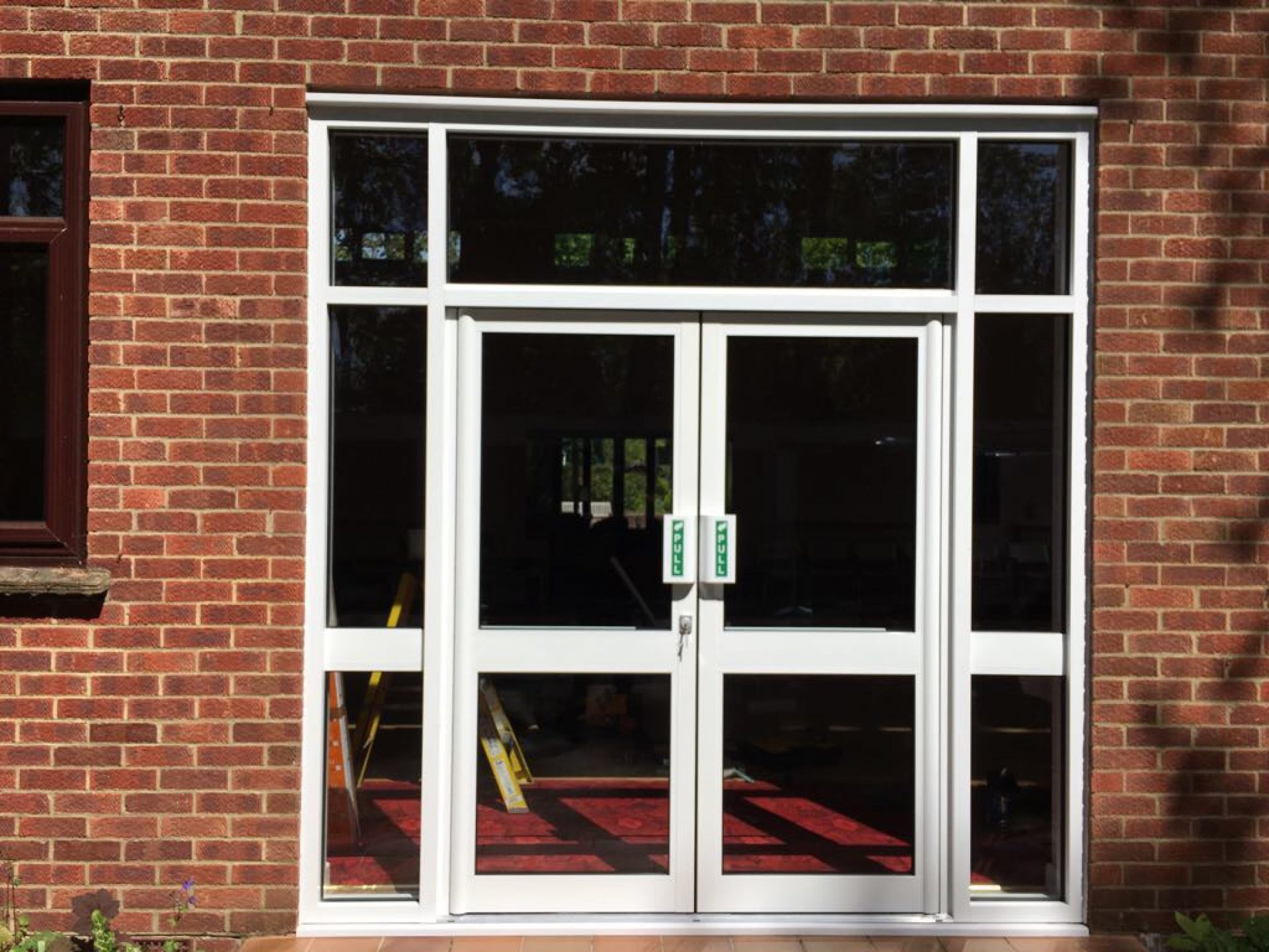 High usage pedestrian aluminium doors